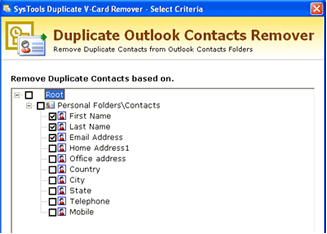 Duplicate Outlook Contacts Remover